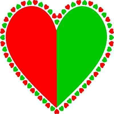 30 Custom Christmas Union Heart Personalized Address Labels