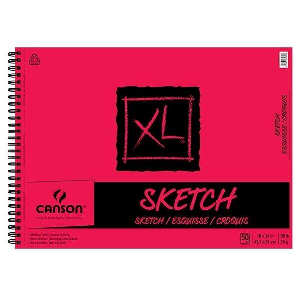 "Canson XL Sketch Pad (50 Sheets - Spiral Bound) 18x24"""""