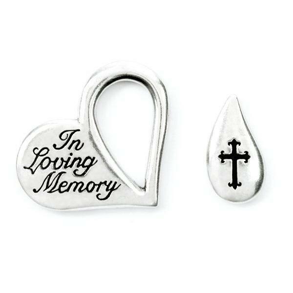 In Loving Memory Fine Pewter Memorial Tear Pocket Token | Made in the USA