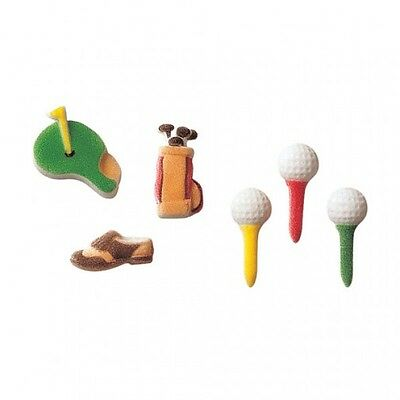 Sugar Decorations Cookie Cake Cupcake Sports Club GOLF 12 ct. (Sugar Cookie Decorating)