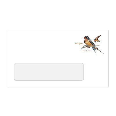 US U696 Barn Swallow Forever 6 3/4 Window Stamped Envelope WAG 2017 - $1.54