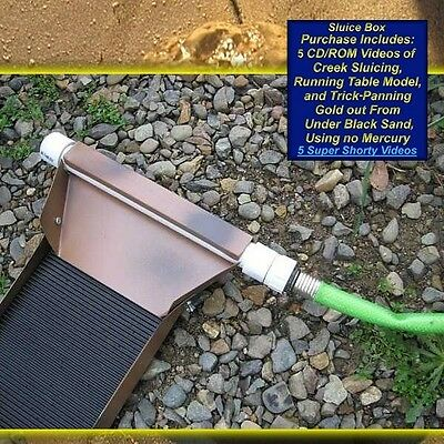 Gold mining sluice box paydirt prospecting sluice box gold panning sluicing