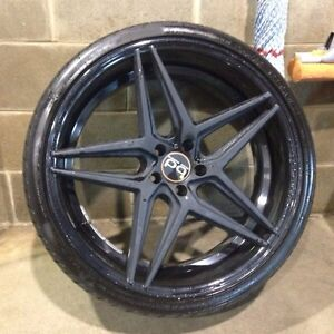 "22"" blaque diamond bd8 staggered wheels"
