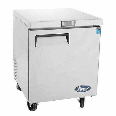 New 27 1 Door Undercounter Worktop Freezer With Casters Free Shipping In 24hrs