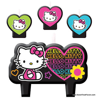 HELLO KITTY Party Birthday Favors Candle Cake Cupcake Topper Kit Cat Decoration  - Hello Kitty Cake Kit