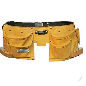 Cinturon alba il cuero 11 bolsillos herramientas nuevo ebay - Herramientas de albanil ...