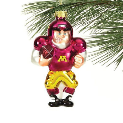 Minnesota Golden Gophers College Football Player Glass Ornament -  New in Box - College Football Ornaments