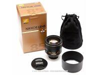 Nikon 85mm 1.4G lens