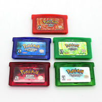 Pokemon Emerald Firered LeafGreen Ruby Sapphire Game Boy Advance