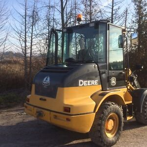 JOHN DEERE 244J LOADER WITH SNOW BUCKET AND FORKS Peterborough Peterborough Area image 3