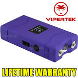 VIPERTEK PURPLE VTS-880 5 BV Mini Rechargeable LED Police Stun Gun Taser Case