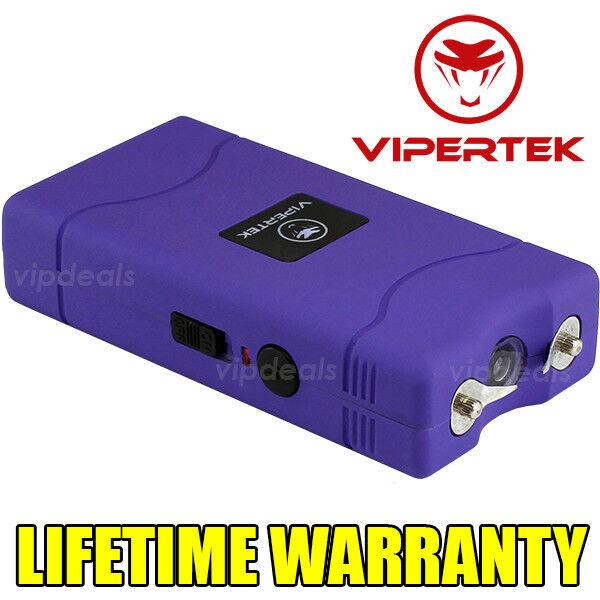 VIPERTEK PURPLE VTS-880 50 BV Mini Rechargeable LED Police Stun Gun Taser Case