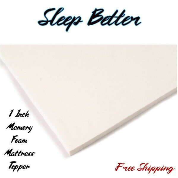 "1""  Memory Foam Mattress Topper Orthopedic Matress Pad King"