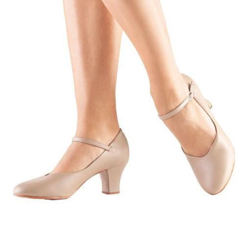 "SO DANCA CH52 Character Shoe w/ Leather Sole, 2"" Heel,RUNS SMALL, Black/Tan, NIB"