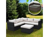 Rattan Garden Furniture, Table and Chairs, Outdoor Seating 5 Seater Brand New