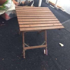 Small wooden outside bistro table