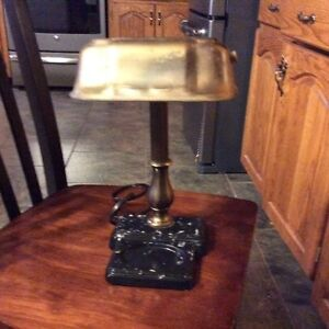 Vintage Brass Pull Chain Desk Lamp ( Reduced)