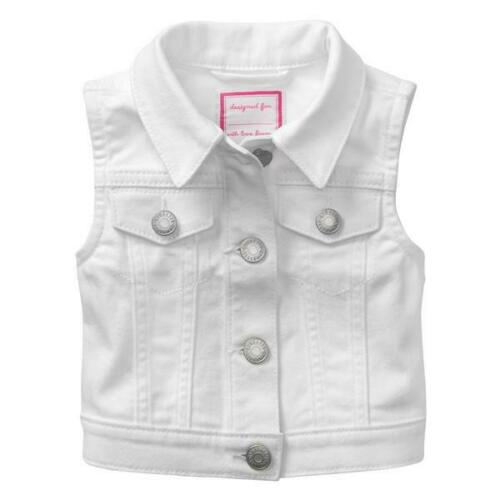 NWT Gymboree Girls White Denim Vest Size 4T