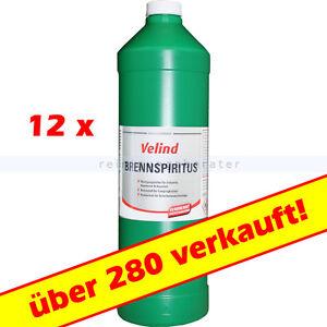 12x 1L Spiritus, Brennspiritus Basis Bioalkohol 2,50€/L
