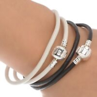 Handmade Wrap Leather Bracelets White or Blk Coffee Color $5 Ea.