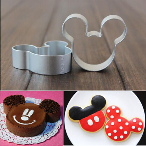Metal Mickey Mouse Shaped Cookie Pastry Dessert ...