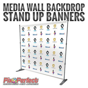 ★Step and Repeat Backdrop Stand Up Banner Printing ✂$5 COUPON