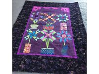 Kiwi vases quilt