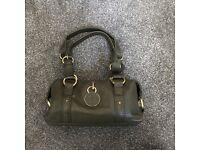 Jasper Conran J Jeans Green Leather Barrel Handbag for sale  Cumbria