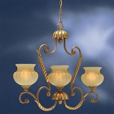 Kichler 3 Light Brulee And Cloudy Umber Glass Chandelier/Island Light (Brulee 3 Light)