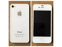 White Apple iPhone 4s in perfect condition