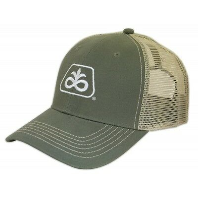 PIONEER SEED *PUTTY GREEN & STONE MESH* Trademark Logo CAP HAT *BRAND NEW* PS22