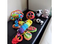 Baby infant buggy play Toys soft Lamaze Cot New Born Pushchair Mobile Bundle
