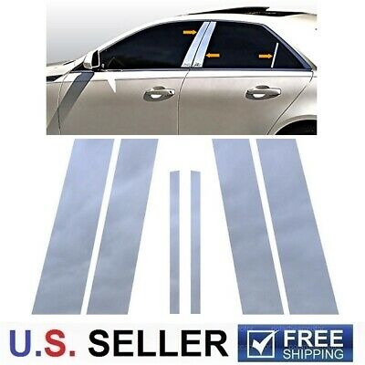 For 2008-2013 Cadillac CTS 4Dr Sedan Stainless Steel Chrome Pillar Post Trim 6PC