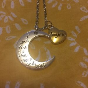 I Love You to the Moon and Back - Daughter Necklace