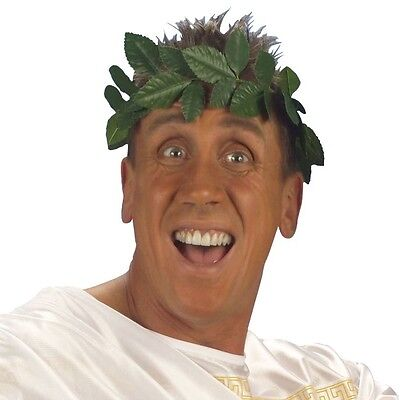 LORBEERKRANZ GRÜN Siegerkranz Julius Cäsar Römer Imperator Kostüm Zubehör - Caesar Kostüm Zubehör