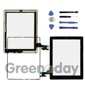 FOR IPAD 2 BLACK REPLACEMENT SCREEN TOUCH DIGITIZER +MID FRAME BEZEL&HOME BUTTON