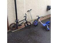 BMX Razor bike and scooter