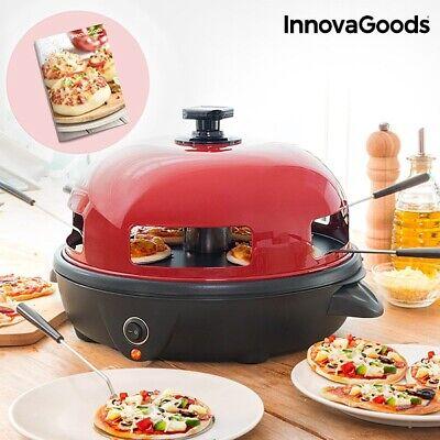 Horno para mini pizzas con recetario Presto! InnovaGoods - 700W Rojo Negro