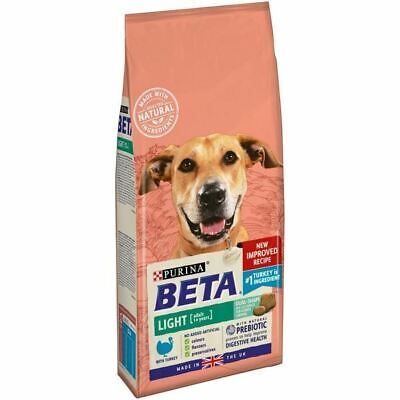 Beta Light Adult Dry Dog Food With Turkey 2kg Weight Control Healthy Digestion