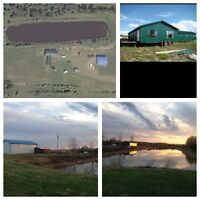 Shop and house on 8 acres