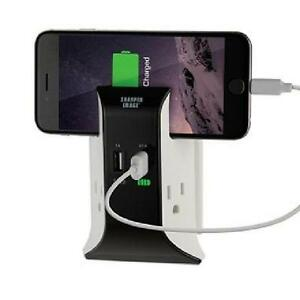 Sharper Image Visual Charge USB Wall Plate Charger - TS1802