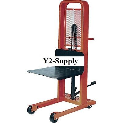 New Hydraulic Stacker Lift Truck 1000 Lb. Cap. With Platform