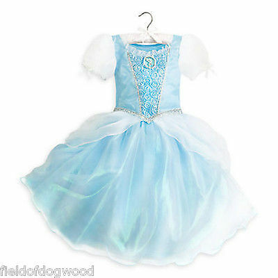 NWT Disney Store Cinderella Costume Dress Princess Gown Rose 7/8 9/10 Girls