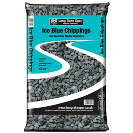 Ice blue marbel chippings 20mm, 20kgs each bag, 30 bags available