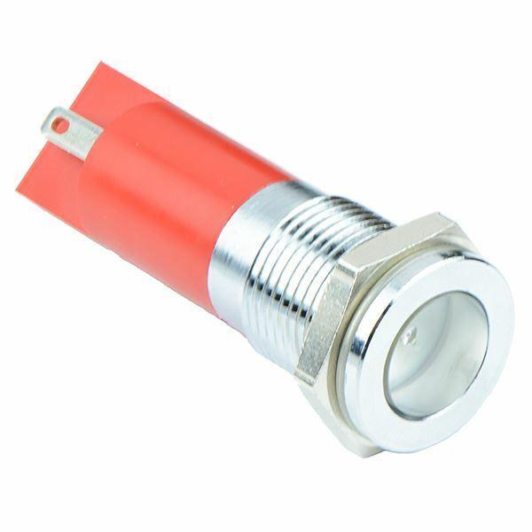 Red LED 14mm Panel Indicator Light 110VAC APEM