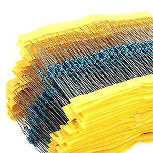2600 pcs 130 Values 1/4W ±1% 0.25W Metal Film Resistors Kit Pack Mix Assortment