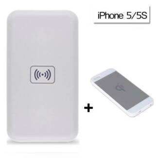 QI Wireless Charger Power Bank Charging Pad + Receiver for iPhone