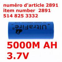 UltraFire 5000mAh 3.7V 26650 Rechargeable Battery For Flashlight