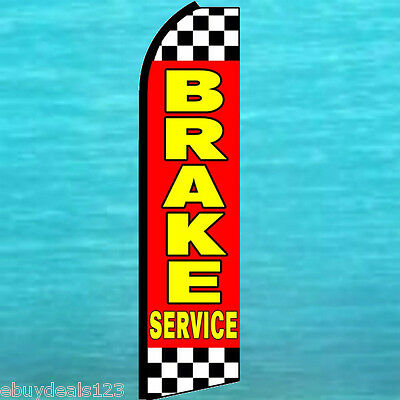 Brake Service Flutter Feather Flag Swooper Vertical Advertising Sign Bow Banner