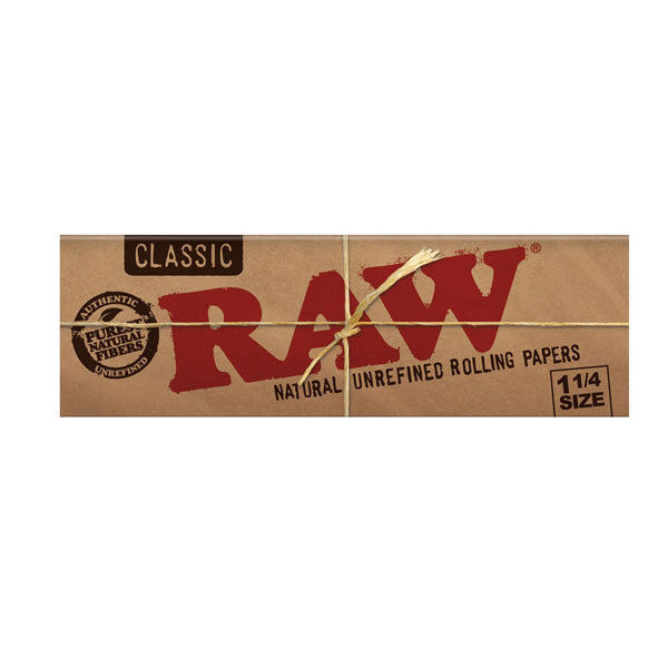 Raw Classic 1 1/4 Regular Size Rolling Papers Smoking Cigarette Tobacco